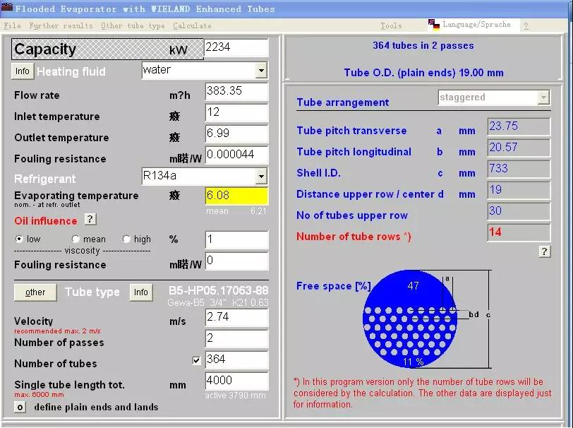 WIELAND software operation interface: